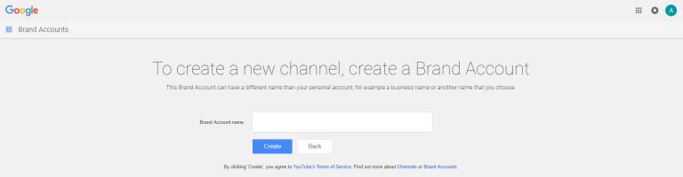 create a Brand Account