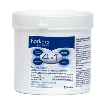Harkers 4 in 1 tablets tub