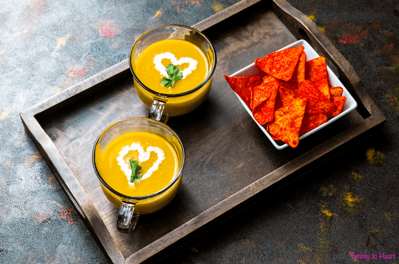 Nachos Vegetable Soup - a cup full of bliss