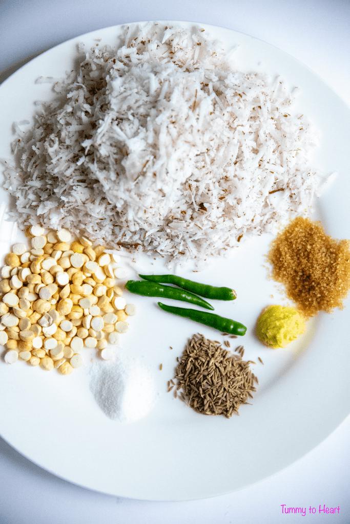 chutney ingredients for millet crepe