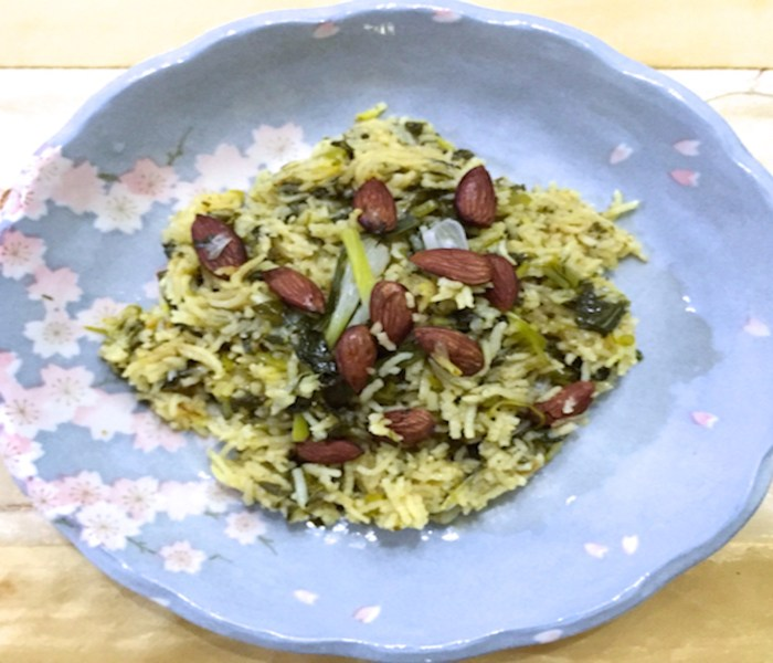 Simple Spinach Pilaf