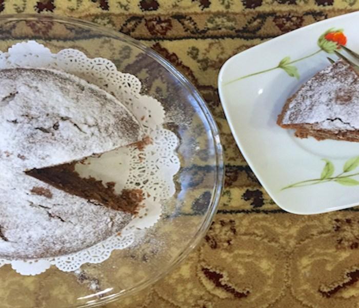 Eggless Date & Walnut Coffee Cake