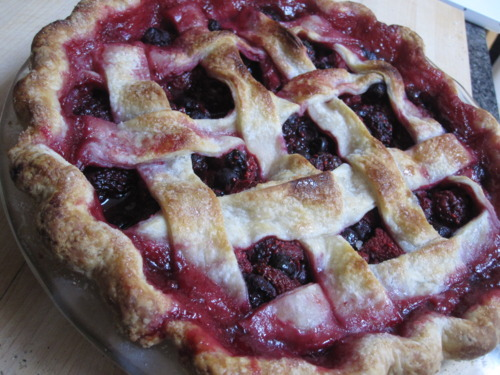 My Favorite Pie Crust and Four-Berry Filling