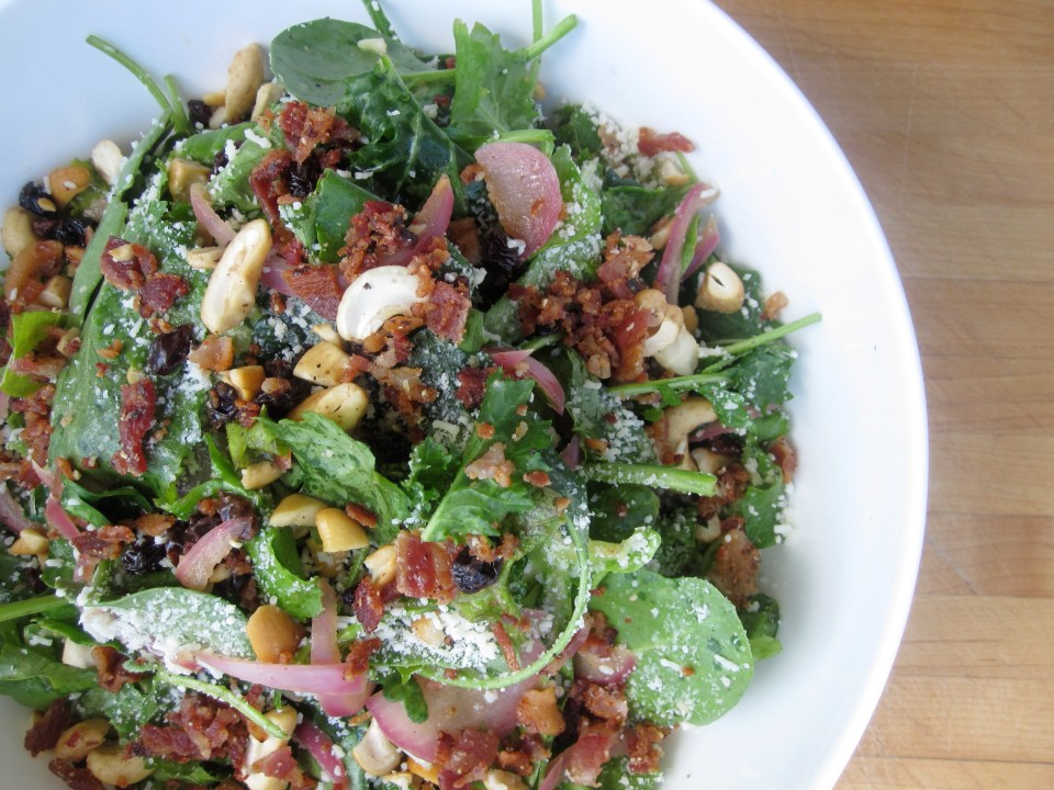 Wark Kale Salad with Bacon
