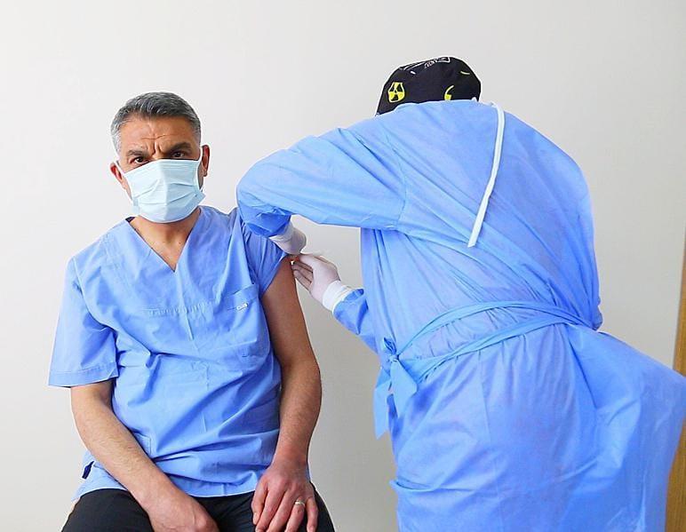 Tunceli'de il protokolü ikinci doz aşılarını oldu