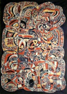 "SOLD: ""Ifa Oracle: A Compendium of Knowledge,"" 2012, batik on cotton"