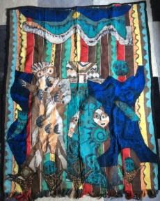 """Extended Royal Family,"" batik quilty tapestry (BQT)"