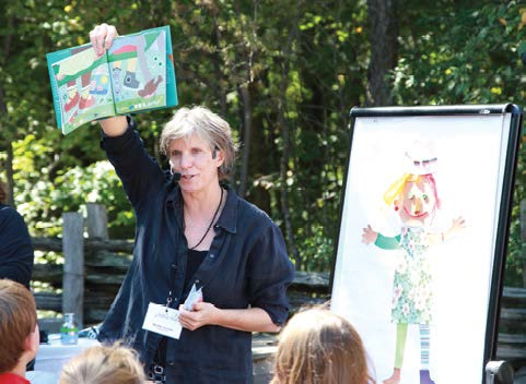 Marthe Jocelyn sharing Ones and Twos at Telling Tales in 2012.