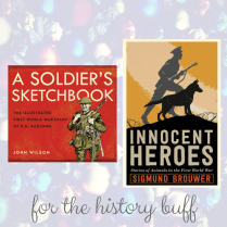 https://penguinrandomhouse.ca/books/247765/soldiers-sketchbook#9781770498549 / https://penguinrandomhouse.ca/books/537570/innocent-heroes#9781101918463