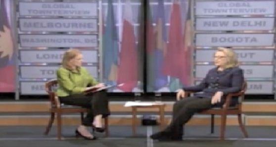 Hillary dice que Hamas no es político 01/29/2013