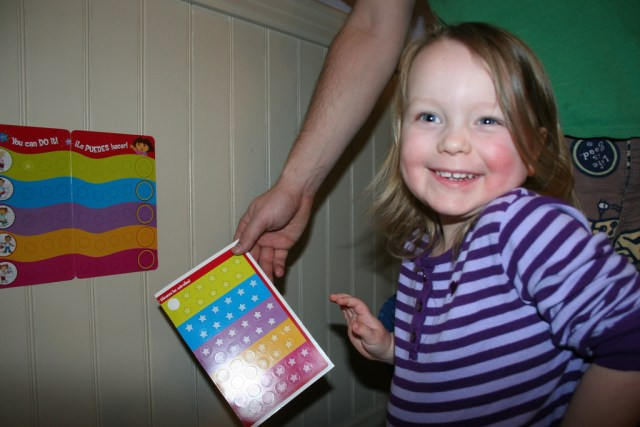 Tuned In Parents - Potty Training Like a Boss, Stickers for stinkies, photo by Abigail Batchelder, Creative Commons