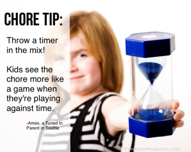 Parenting tip: helping kids do their chores with a timer
