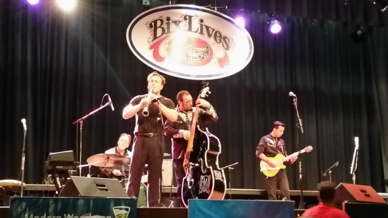 Dave Bennett and the Memphis Speed Kings perform at the 2016 Bix Beiderbecke Memorial Jazz Festival