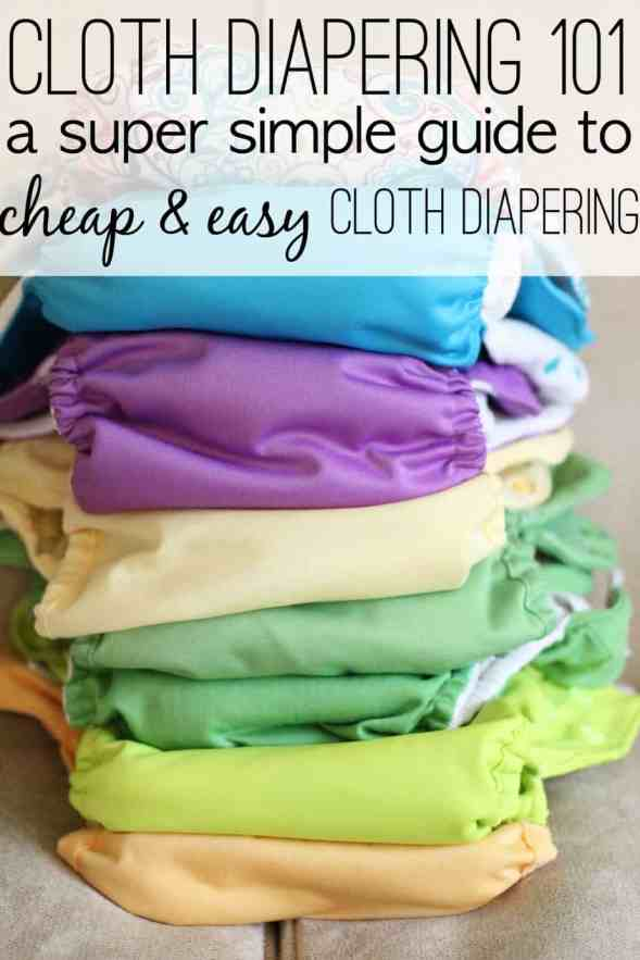 Cloth Diapering 101: I am not a cloth-diaper blogger, nor am I particularly passionate about cloth diapering. This post has everything that regular people need to know about how to choose and wash cloth diapers, and which are the best, cheap cloth diapers.