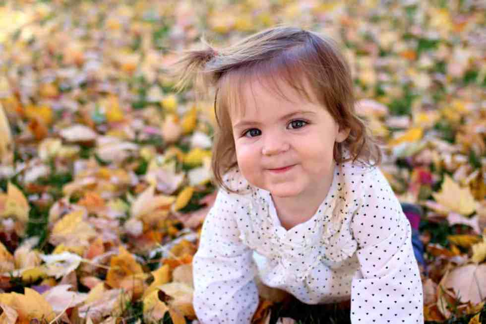 fall leaf fun & how to get that blurry background in pictures