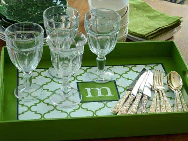 17 DIY handmade Gifts You'd actually want: monogrammed tray