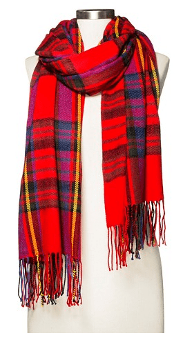 2015 gift guide - plaid scarves target