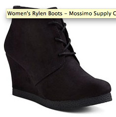 2015 Gift Guide - women's wedge bootie from target
