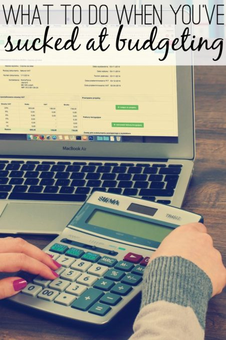 Sometimes you are a finance blogger and you get tired of budgeting because you are so pregnant, and so you just stop. Woops. Here's what to do if you've been sucking at budgeting!