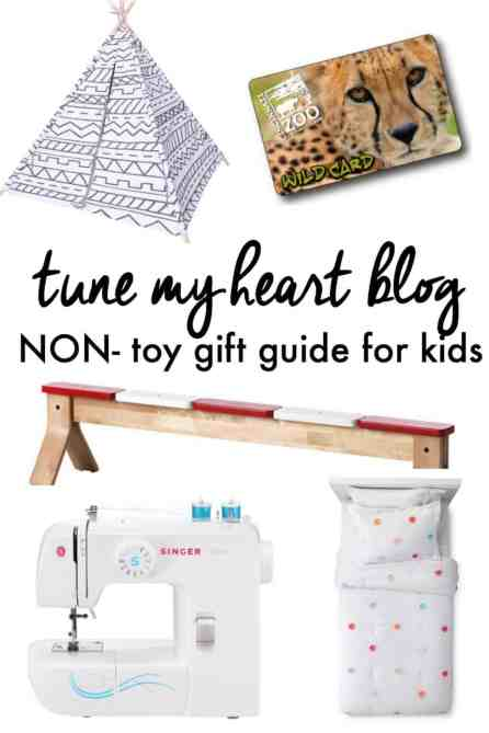 Think outside the box for your kids' gifts this year! Here are some non-toy ideas (as well as some favorite toys for kids under 5.)