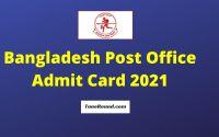 Bangladesh Post Office Admit Card 2021