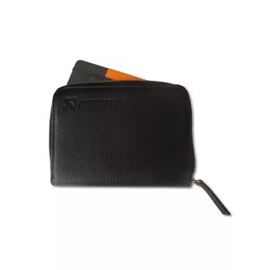 Leather Zip Notebook (S) black