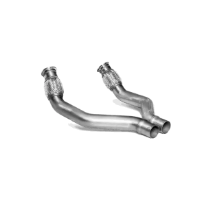 Link pipe set (SS) - for Akrapovic aftermarket exhaust system Audi RS 6 Avant (C7) 2014 - 2018