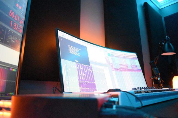 Tunes Recording Studio monitor setup