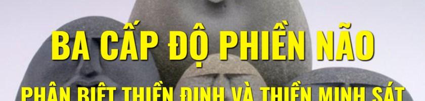 BA CẤP ĐỘ PHIỀN NÃO VÀ CÁCH PHÂN BIỆT THIỀN ĐỊNH VÀ THIỀN MINH SÁT VIPASSANA