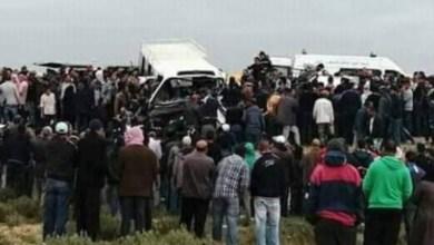 Photo of قتلى و جرحى في حادث خطير تمثل في اصطدام حافلة بسيارتين