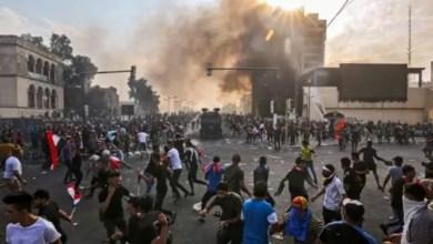 Photo of الإعلام العراقى: مقتل 4 متظاهرين وإصابة 50 آخرين فى مدينة ذى قار العراقية