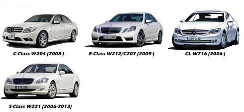 Camera marsarier Mercedes C Class (W204), Mercedes E Class (W212), CL (W216), S (W221) - HS8102
