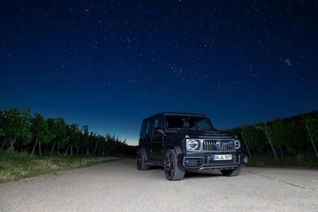 Lorinser Mercedes AMG G63 schraeg vorne Nachthimmel