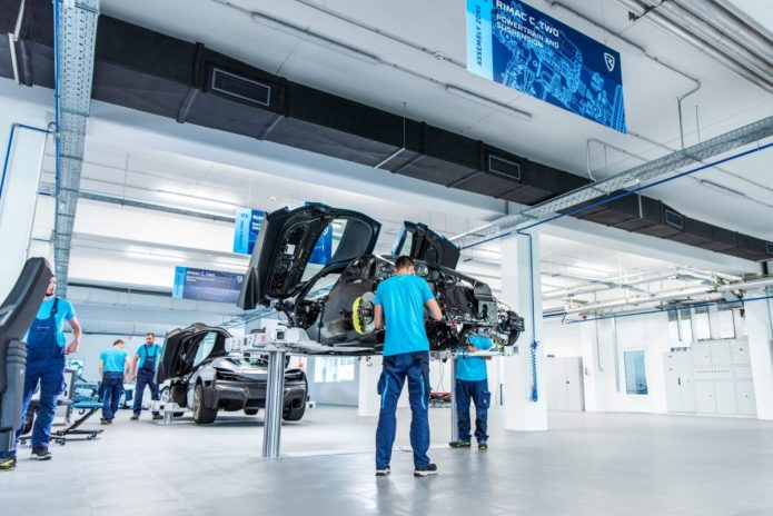 Rimac C Two Prototype Assembly Line 2