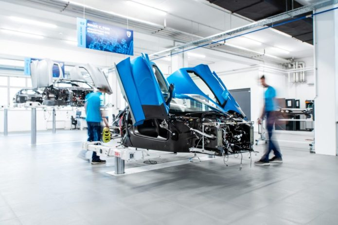 Rimac C Two Prototype Assembly Line 7
