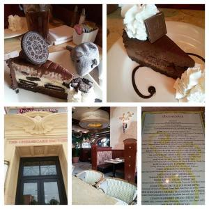I got to go to the Cheesecake Factory!! I don't know if they exist in Canada, but if they do, none are in Winnipeg. This was a treat for me because since embarking on my fitness and weight loss journey, I haven't had a single mouthful of cheesecake in over a year. Until last week. Joy!!!