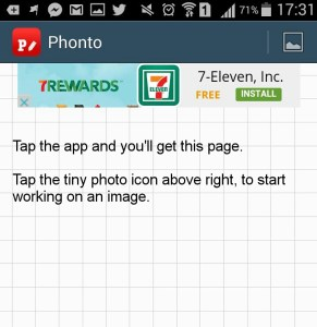 Tap the app to get this page