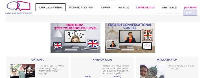 موقع-Easy-Language-Exchange
