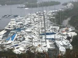 إعصار إيرما في جزر فيرجن آيلندز