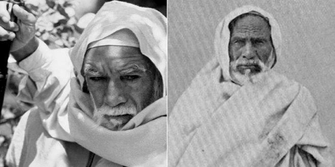 أسد الصحراء وشيخ المجاهدين البطل عمر المختار والصورة المرفقة لأنطنيو كوين الذي مثل دوره في الفلم