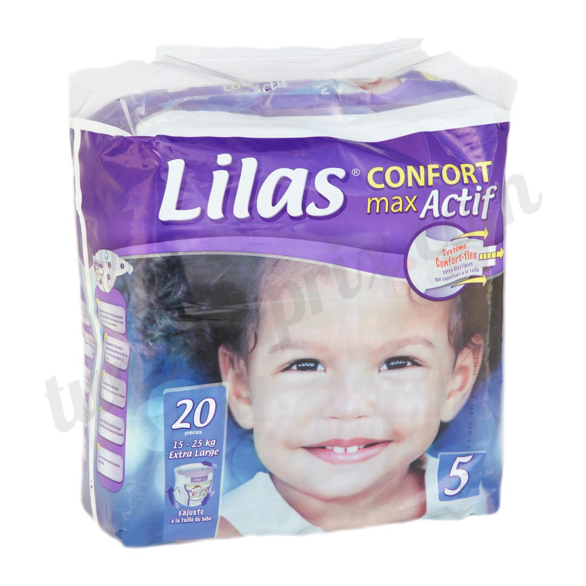 couche lilas confort taille 5 15 25kg