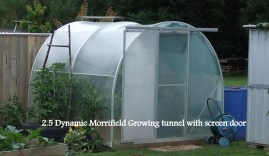 2.5m Dynamic Growing Tunnel with Screen Door - from Morrifield