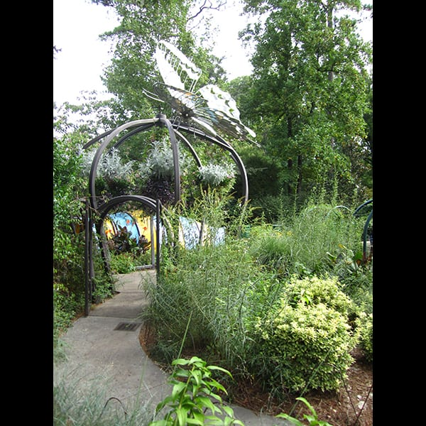 Garden sculpture in the Children's Garden at the Atlanta Botanical Garden in Atlanta, Georgia, project management by Tunnell and Tunnell Landscape Architecture.