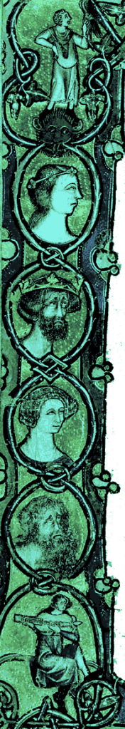 Medieval Portraits on Scroll