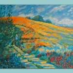 Rolling Landscape Oil Painting by Frances Dewis