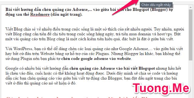 Hướng dẫn chèn quảng cáo vào giữa bài viết cho Blogspot tự động 1
