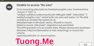Sửa lỗi không truy cập được các ổ đĩa NTFS trên Ubuntu