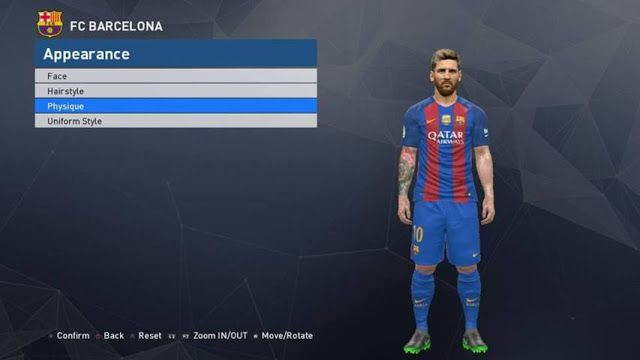 Tổng hợp face Lionel Messi (Barcelona) đẹp nhất cho PES 2017 Tổng hợp face Lionel Messi (Barcelona) đẹp nhất cho PES 2017