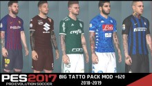 Tattoo Pack cho PES 2017 Next Season Patch 2019
