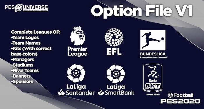eFootball PES 2020 PS4 PESUniverse Option File v1